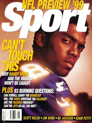 August 1999 Sport Cover (Randy Moss, Minnesota Vikings)