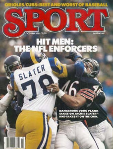 October 1981 Sport Cover (Doug Plank of the Chicago Bears and Jackie Slater of the LA Rams)