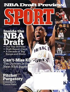 July 1997 Sport Cover (Tim Duncan, Wake Forest Basketball)
