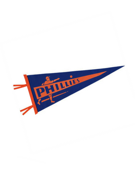 Philadelphia Phillies Pennant (Blue and Orange)