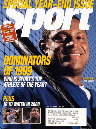 January 2000 Sport Cover (Sammy Sosa, Chicago Cubs)