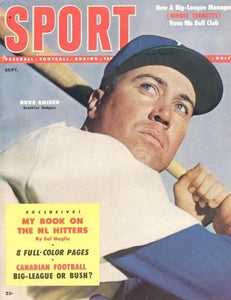 September 1954 Sport Cover (Duke Snider, Brooklyn Dodgers)