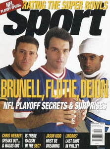 February 2000 Sport Cover (Mark Brunell,Jacksonville Jaguar, Doug Flutie, Buffalo Bills, Deion Sanders Dallas Cowboys)