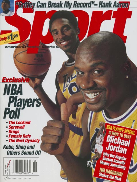 June 1998 Sport Cover (Kobe Bryant and Shaquille O'Neal, Los Angeles Lakers)