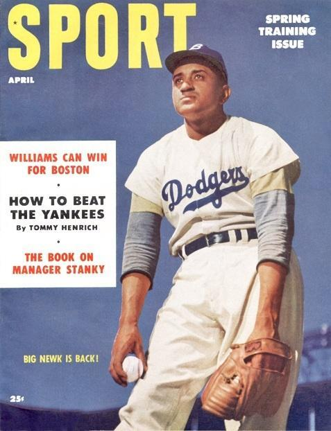 April 1954 Sport Cover (Don Newcombe, Brooklyn Dodgers)