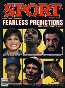 February 1985 Sport Cover (Mary Lou Retton, Ralph Sampson, Lyle Alzado, Dwight Gooden and Joe Montana)