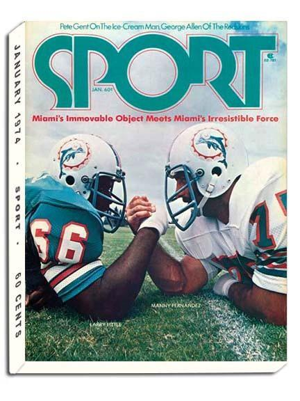 January 1974 Sport Cover (Larry Little Manny Fernandez, Miami Dolphins)