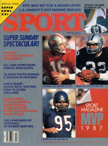 February 1987 Sport Cover (Joe Montana of the San Francisco 49ers and Marcus Allen of the Los Angeles Raiders)
