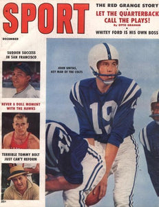 December 1958 Sport Cover (Johnny Unitas, Baltimore Colts)