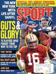 July 1991 Sport Cover (Lenny Dykstra of the Phillies, Jumbo Elliot of the Giants, Bernard King of the Washington Bullets and Joe Montana San Francisco 49ers)