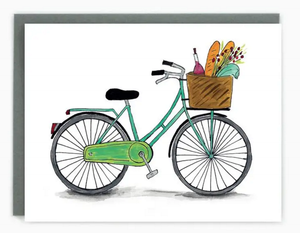 Bicycle Greeting Card (Blank)