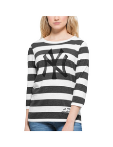 NY Yankees Women's Striped Tee