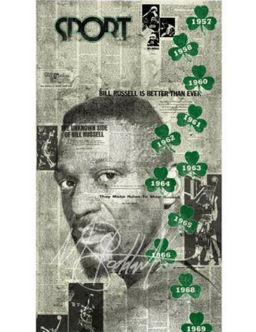 """Game Changer, 1956"" (Bill Russell) by Mark Stoddart"