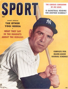 May 1958 Sport Cover (Yogi Berra, New York Yankees)