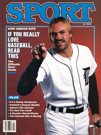 July 1985 Sport Cover (Kirk Gibson, Detroit Tigers)