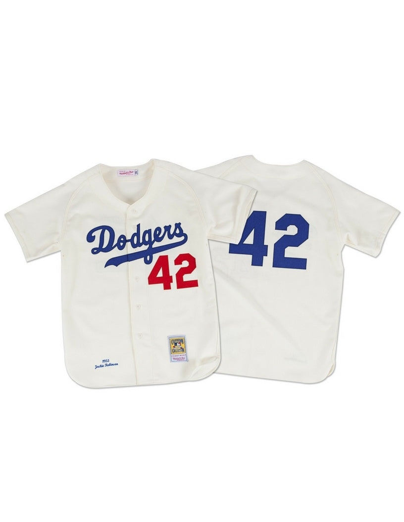 Brooklyn Dodgers 1955 Jackie Robinson Authentic Replica Jersey