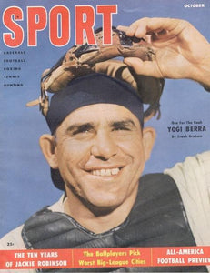 October 1955 Sport Cover (Yogi Berra, New York Yankees)