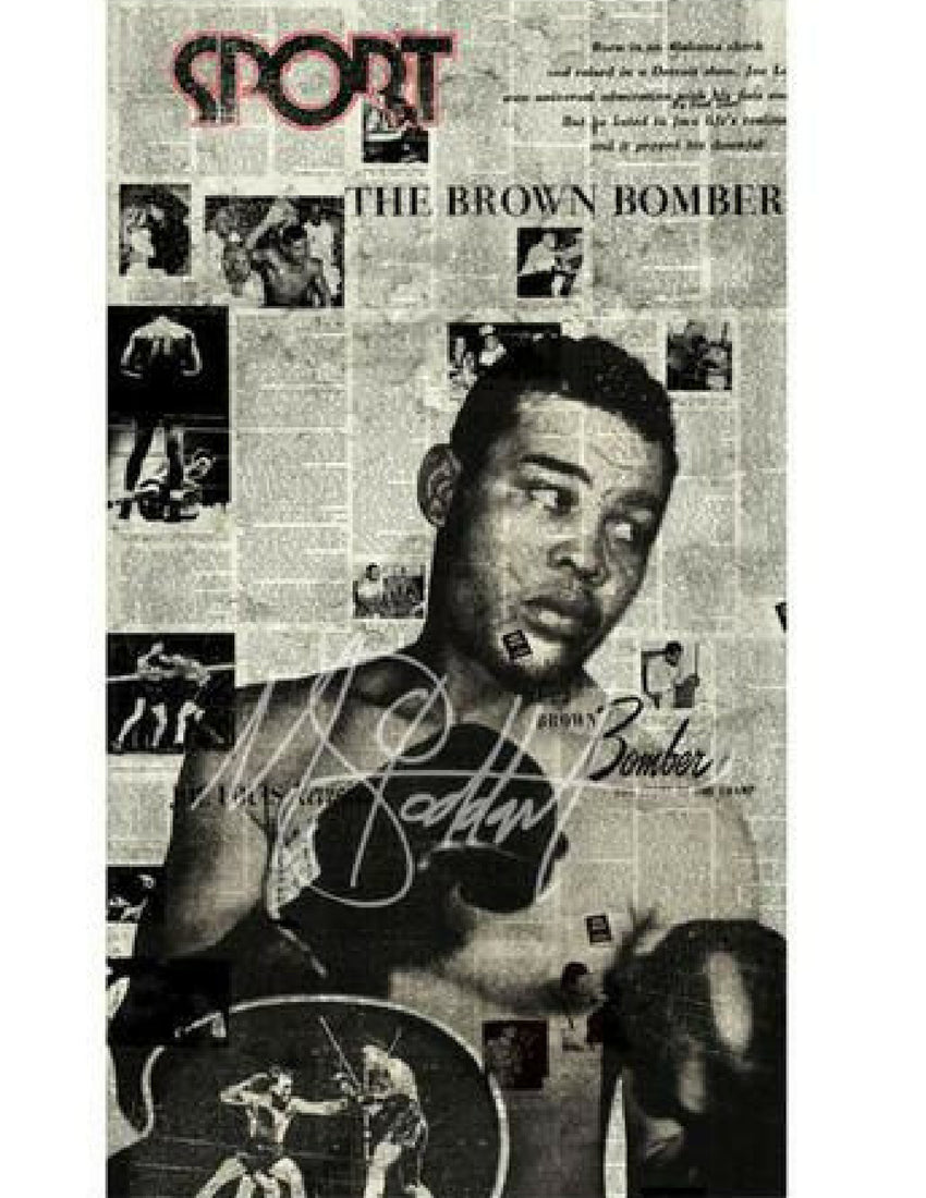 """Brown Bomber, 1946"" (Joe Louis) by Mark Stoddart"