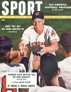 October 1954 Sport Cover (Al Rosen, Cleveland Indians)