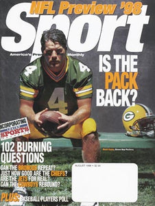 August 1998 Sport Cover (Brett Favre, Green Bay Packers)