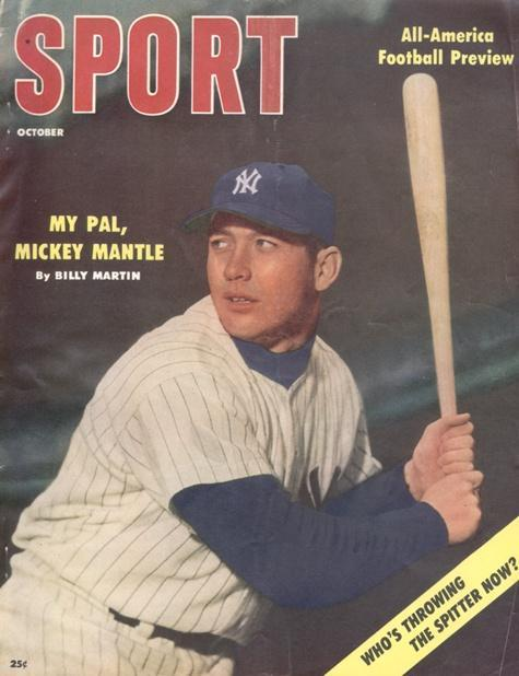 October 1956 Sport Cover (Mickey Mantle, New York Yankees)