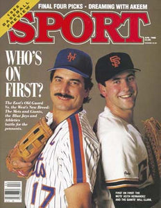 April 1988 Sport Cover (Keith Hernandez of the New York Mets and Will Clark of the San Francisco Giants)