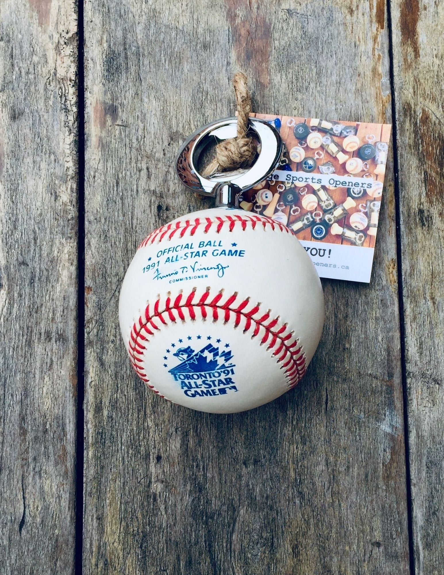 Authentic Rawlings 1991 Toronto MLB All-Star Official Game Ball Bottle Opener