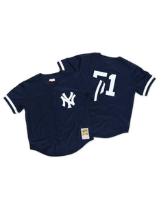 NY Yankees Bernie Williams 1998 Mesh BP Authentic Replica Jersey
