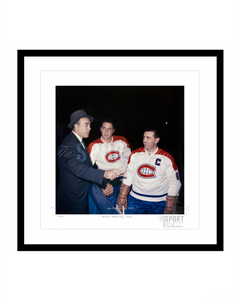 Board Meeting, 1955 (Toe Blake, Maurice Richard & Jean Beliveau)