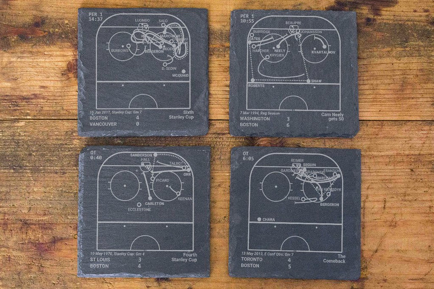Boston Bruins Greatest Plays in Sports Coasters