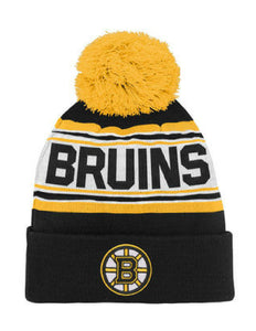 Boston Bruins Toddler Cuffed Knit Pom Toque