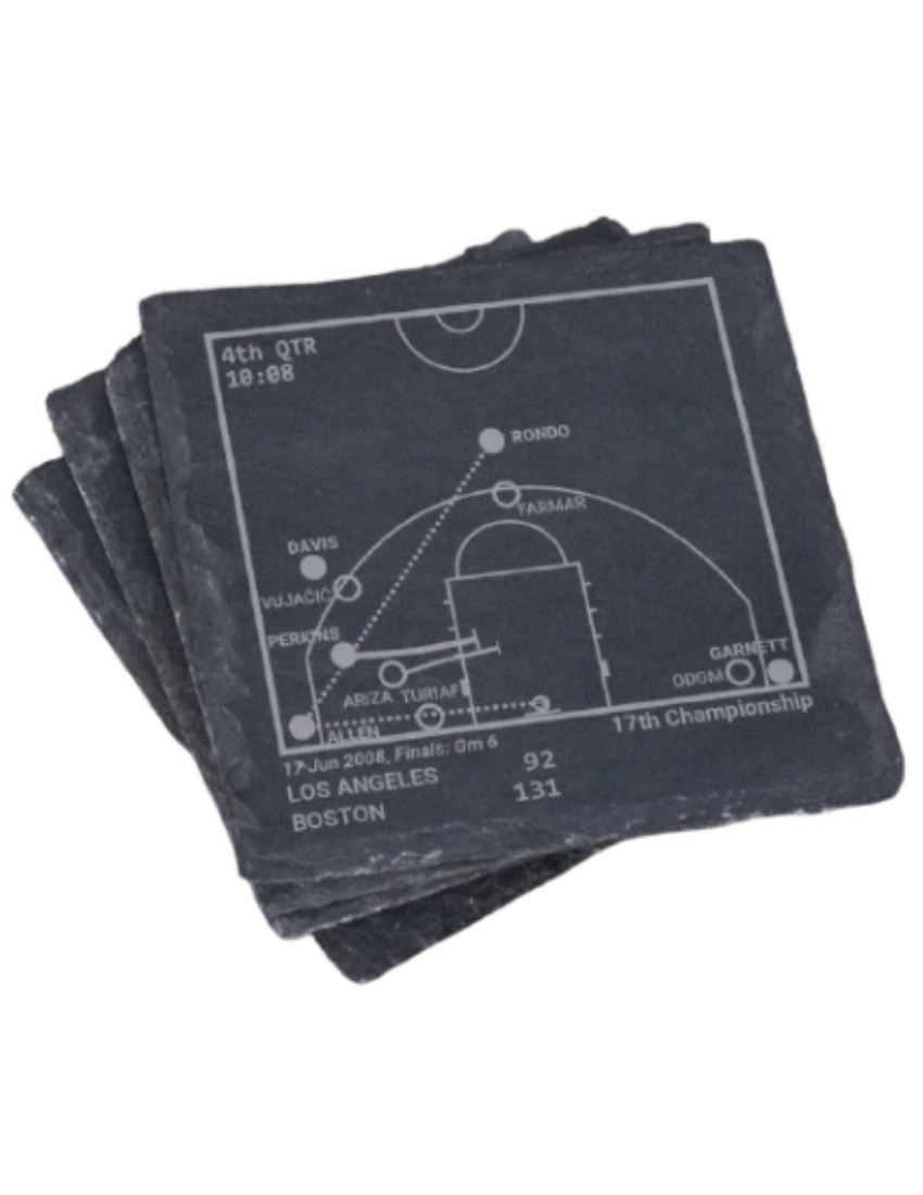 Boston Celtics Greatest Plays in Sports Coasters
