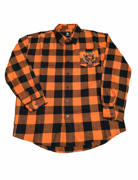Chicago Bears Large Check Flannel Long Sleeve