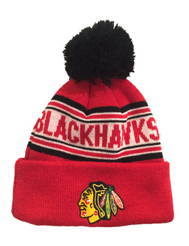 Chicago Blackhawks Toddler Cuffed Knit Pom Toque