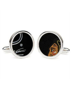 Game-Used Puck Cufflinks (Round)