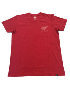 Detroit Red Wings Rundown V-Neck Scrum Tee
