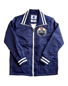 Edmonton Oilers Nylon Zip Coaches Starter Jacket