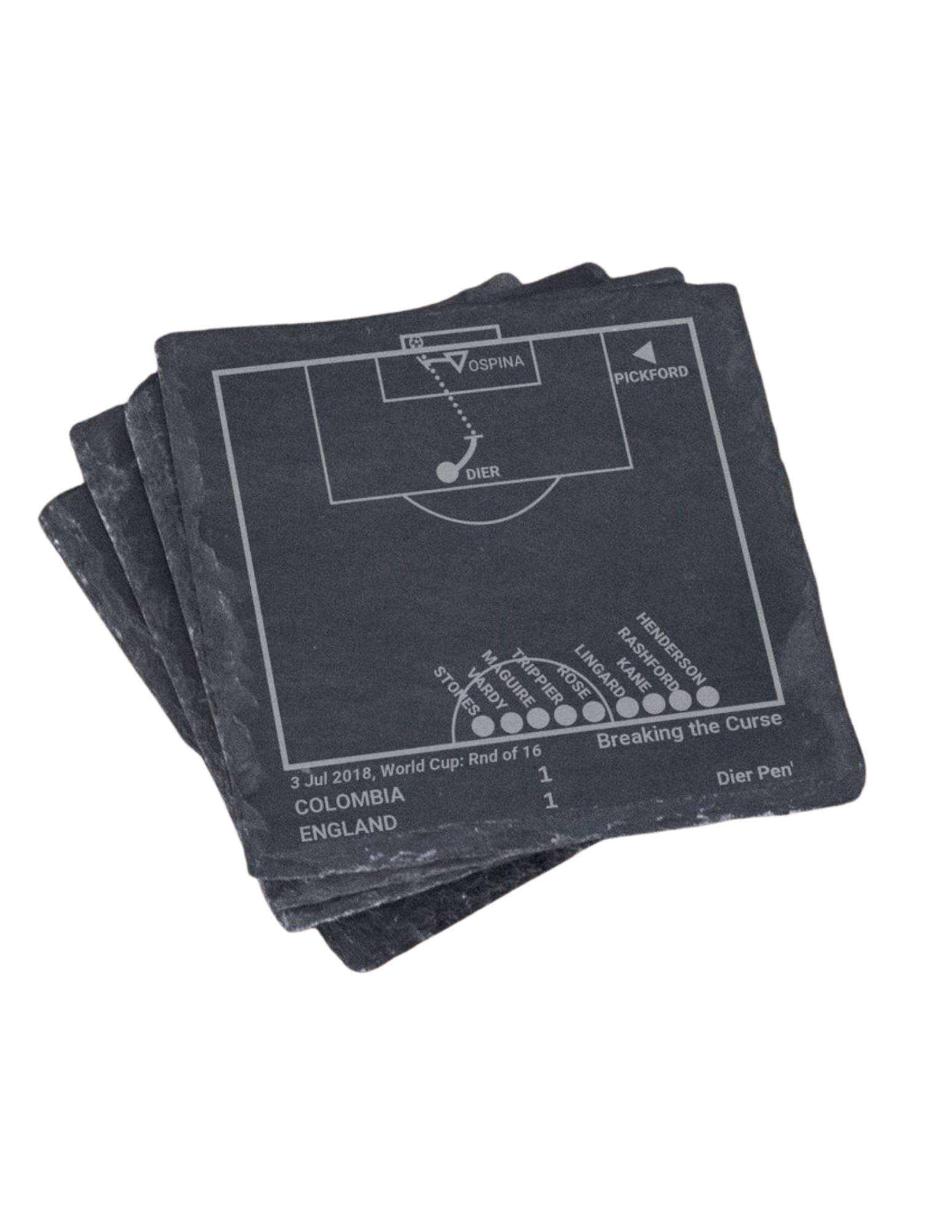 Greatest England Soccer World Cup Plays Coasters