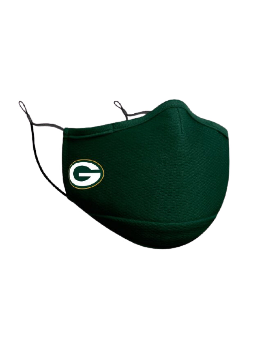 Green Bay Packers New Era NFL Sideline Face Mask (Green)