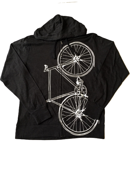 Lightweight Fixie Hoodie (Charcoal/White)