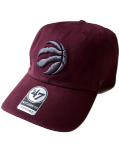 Toronto Raptors Burgundy Clean Up Cap