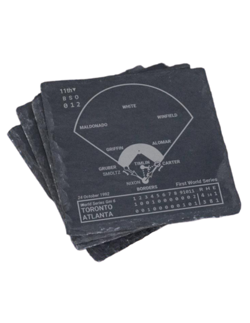 Toronto Blue Jays Greatest Plays in Sports Coasters