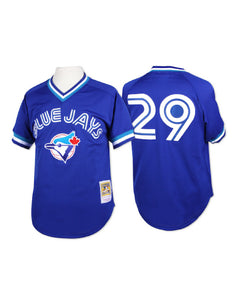 Toronto Blue Jays 1993 Joe Carter Mesh BP Authentic Replica Jersey