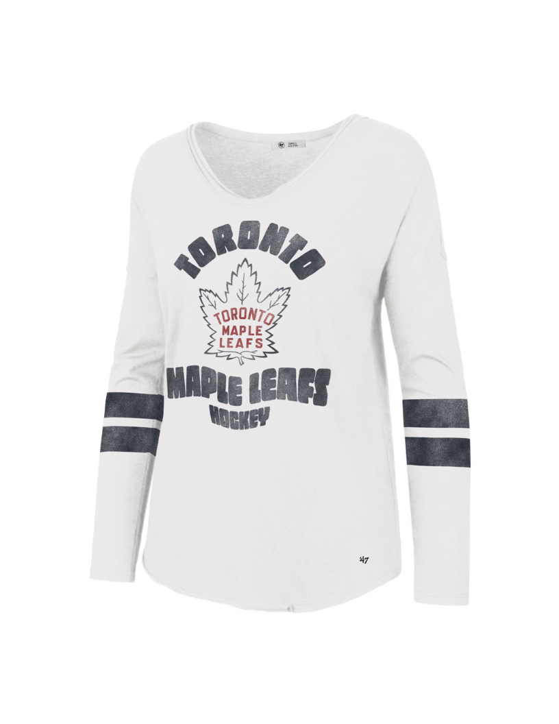 Toronto Maple Leafs Letter Courtside Women's Tee