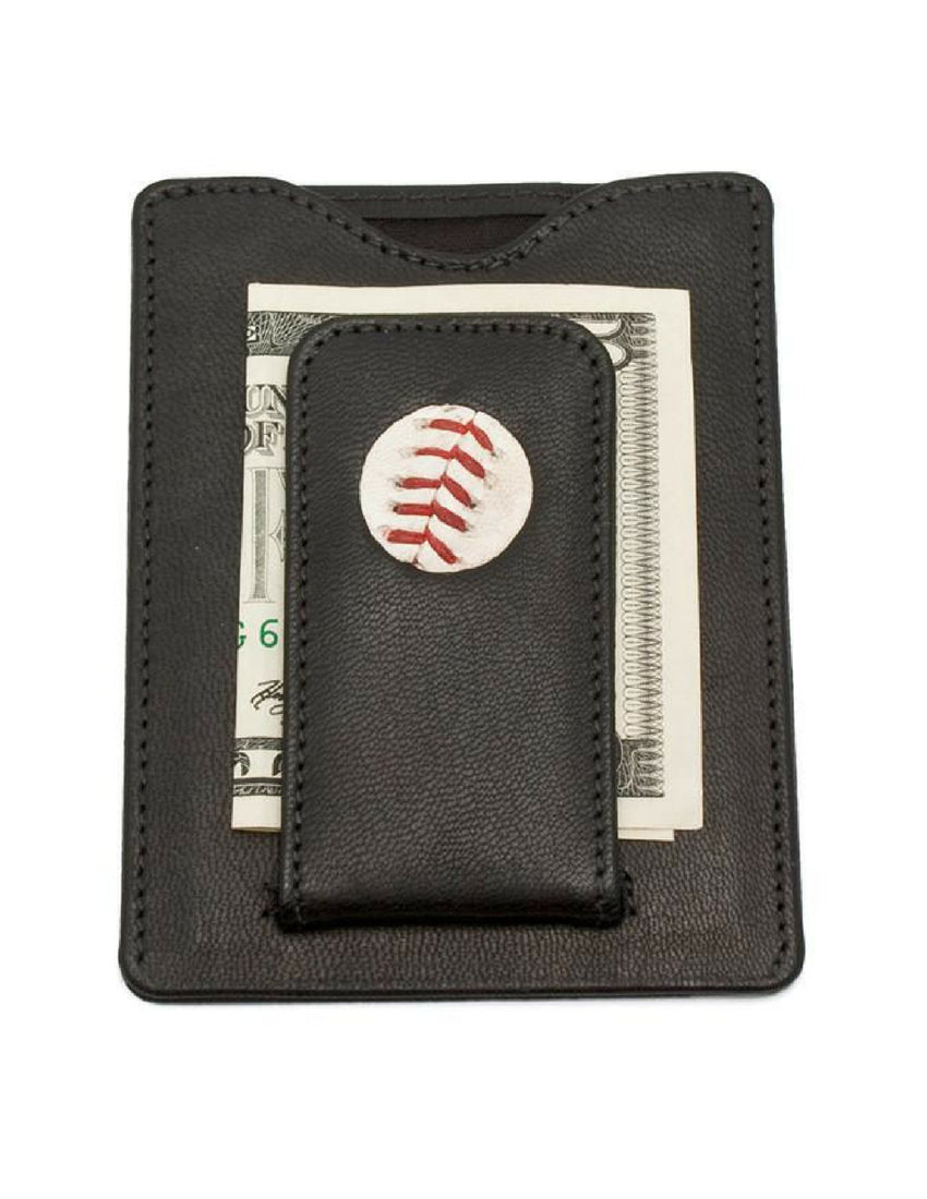 Game-Used Baseball Money Clip Wallets
