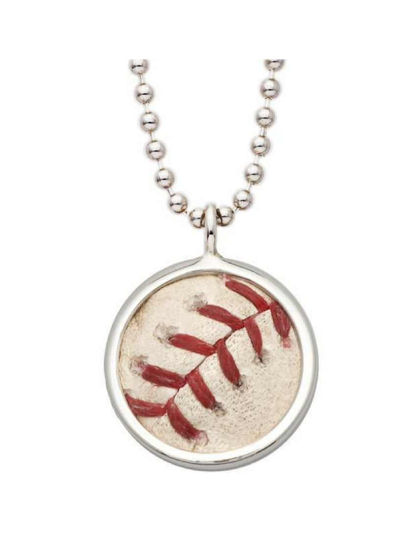 Game-Used MLB Baseball Pendant