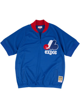 Montreal Expos 1988 Batting Practice 1/4 Zip Authentic Replica BP Jersey