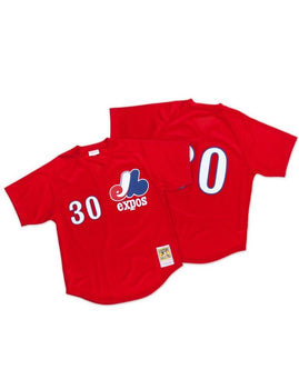 Montreal Expos 1989 Tim Raines Mesh Authentic Replica BP Jersey