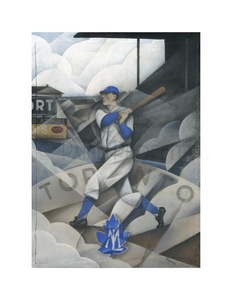 Paine Proffitt 1-of-1 Toronto Maple Leafs Baseball Painting