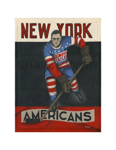 Paine Proffitt 1-of-1 New York Americans Painting